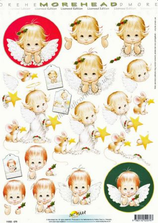 Morehead Christmas Angels 3D Decoupage Craft Sheet